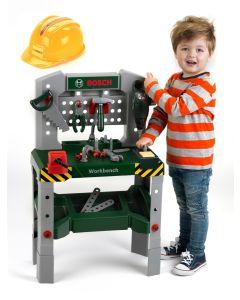 Warsztat dla dzieci Bosch z narzędziami, dźwiękiem, kaskiem - zdjęcie 1