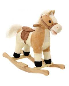 Interaktywny koń na biegunach jasny brąz
