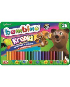 Kredki 26 kolorów Bambino + temperówka - zdjęcie 1