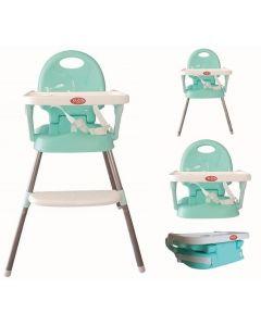 Krzesełko do karmienia 3w1 niebieskie - zdjęcie 1