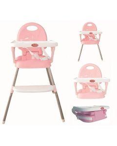 Krzesełko do karmienia 3w1 różowe - zdjęcie 1