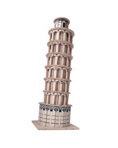 Krzywa wieża  puzzle drewniane 3D