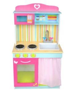 Kuchnia dla dzieci drewniana duża - zdjęcie 1