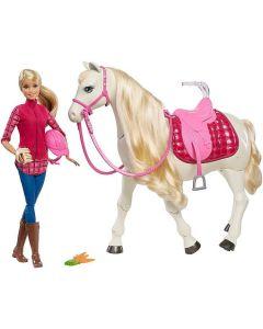 Lalka Barbie i tańczący koń Mattel zestaw FRV36 - Zdjęcie 1