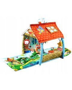 Mata edukacyjna Lionelo Agnes 2w1 domek dla niemowląt - zdjęcie 1