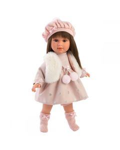 Lalka hiszpańska Leti Llorens 40 cm brunetka - jak żywa - zdjęcie 1