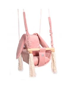 Huśtawka materiałowa Love Gifts Różowe uszy królika - zdjęcie 1
