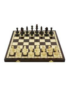 Szachy drewniane olimpijskie duże na 2 osoby - szachy na prezent - zdjęcie 1