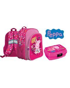 Plecak szkolno-wycieczkowy + śniadaniówka PEPPA  - zdjęcie 1