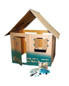 Zestaw do samodzielnego wykonania domku dla dzieci z kartonu Makedo - zdjęcie 1