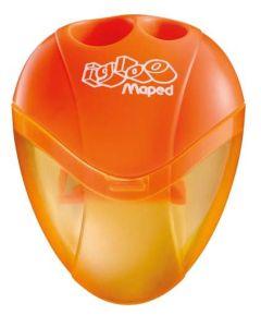 Temperówka dla dzieci igloo Maped dwa otwory pomarańczowa