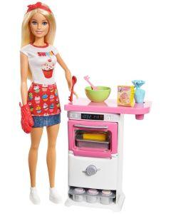 Domowe wypieki Barbie zestaw z lalką FHP57 - zdjęcie 1
