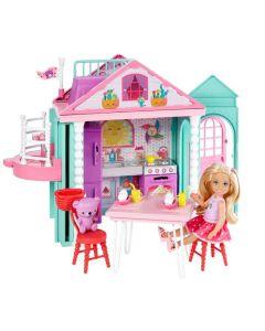 Domek dla lalek z windą Chelsea + lalka Mattel