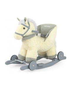 Koń na biegunach z oparciem Milly Mally Polly Beige - zdjęcie nr 1