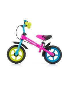 Rowerek biegowy Milly Mally Dragon z hamulcem multicolor - zdjęcie 1
