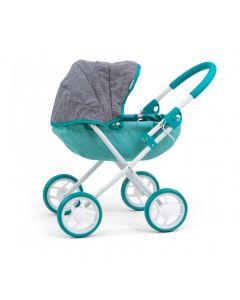 Duży polski wózek dla lalek 40cm głęboki Milly Mally Prestige Mint - zdjęcie 1