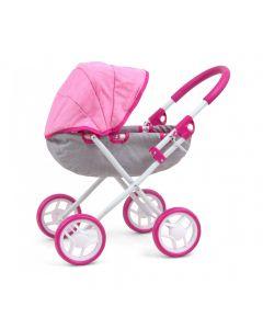 Wózek dla lalek głęboki Milly Mally Dori Prestige Pink - zdjęcie 1