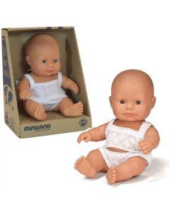 Hiszpańska lalka  dziewczynka - bobas Europejka 21 cm Miniland - zdjęcie 1