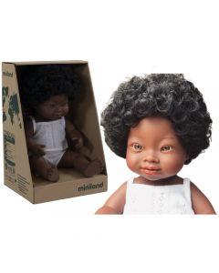 Lalka z winylu dziewczynka Afrykanka 38cm Miniland Doll - zdjęcie 1