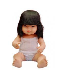 Hiszpańska lalka z winylu Azjatka 38 cm Miniland - zdjęcie 1