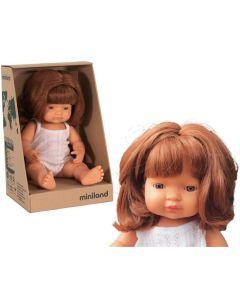 Hiszpańska lalka z winylu Europejka 38 cm Miniland rude włosy  - zdjęcie 1