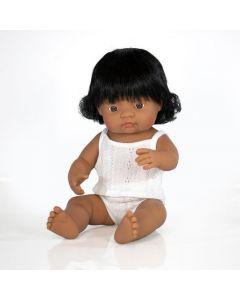 Hiszpańska lalka z winylu Hiszpanka Latynoska 38 cm Miniland - zdjecie 1