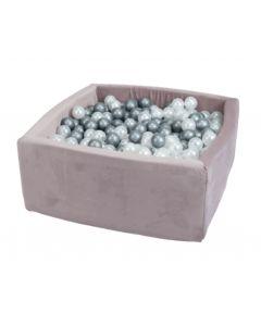 Misioo suchy basen  z piłeczkami kwadrat Valvet Soft Liliowy  - zdjęcie 1