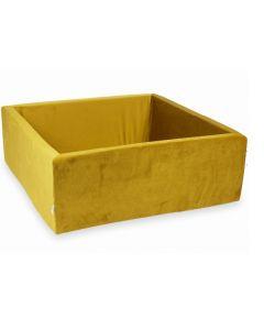 Misioo basen suchy Velvet Soft kwadrat złoty - zdjęcie 1