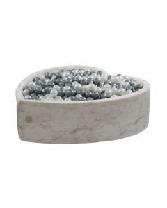 Misioo suchy basen z piłeczkami Serce Velvet Soft 138 cm biały marmur - zdjęcie nr 1