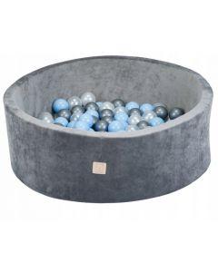 Misioo Velvet Soft Light zestaw basenik  szary+ 200 Piłek - zdjęcie 1