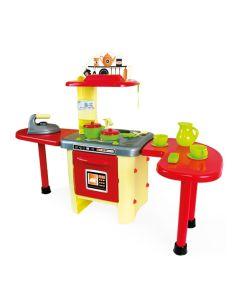 Kuchnia dla dzieci Mochtoys z blatami i okapem 86 cm - zdjęcie 1