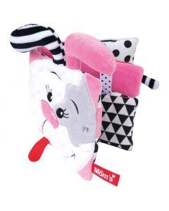 Książeczka sensoryczna szeleścik Pinky Mom's Care - zdjęcie 1