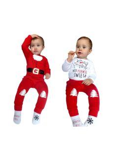 Świąteczne ubranka dla niemowląt Moocha - body, spodenki, skarpetki - zdjęcie 1