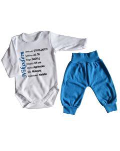 Zestaw body z metryczką i spodnie Moocha - zdjęcie 1