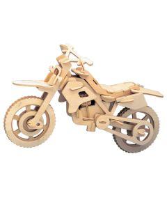 Motocykl cross puzzle drewniane 3D