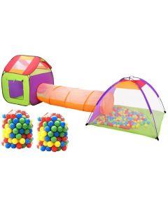 Namiot domek dla dzieci + tunel + 200 piłek - zdjęcie 1