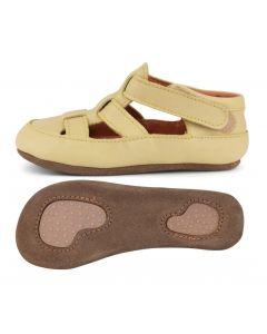 Obex Kadir buciki skórzane pantofelki żółto jasne - zdjęcie 1