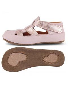 Obex Lasti buciki skórzane pantofelki różowe - zdjęcie 1