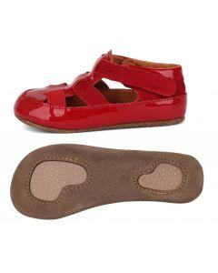 Obex Nadine buciki skórzane dla dzieci czerwone lakierowane  - zdjęcie 1