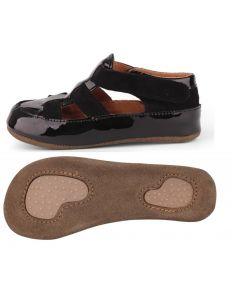 Obex Navis buciki skórzane dziecięce czarne lakierowane - zdjęcie 1