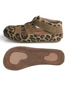 Obex Sacoma buciki skórzane dziewczęce panterka brązowa  - zdjęcie 1