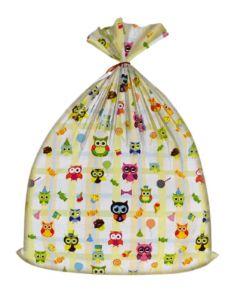 Worek upominkowy na prezenty dla dzieci Pakado sowy - zdjęcie 1