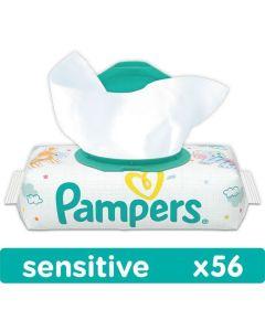Chusteczki nawilżane Pampers sensitive z wieczkiem 56 szt. - zdjęcie 1