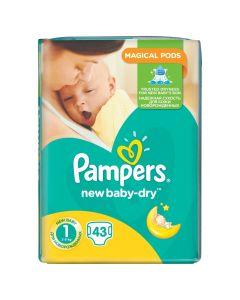 Pieluszki jednorazowe Pampers new baby-dry 1  (2-5kg) 43 szt. - zdjęcie 1