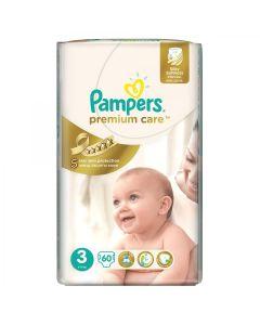 Pieluszki jednorazowe Pampers Premium Care 3 midi 60 szt. (5-9kg) - zdjęcie 1