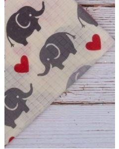 Pielucha tetrowa wysokogatunkowa 70x80 słonie