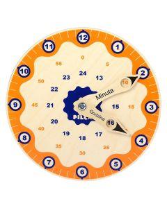Zegar Pilch do nauki godzin z ruchomymi wskazówkami dla dzieci - zdjęcie 1
