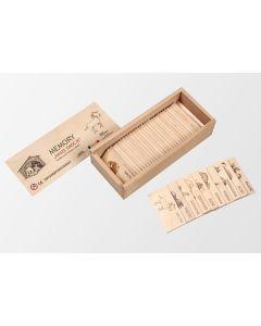 Drewniana gra memory nasze emocje - zabawki dla dzieci z adhd - zdjęcie 1