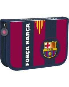 Piórnik pojedynczy z wyposażeniem FC Barcelona - zdjęcie 1