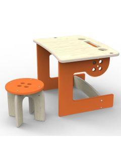 Biurko dla przedszkolaka z krzesełkiem Guzik Planeco - zdjęcie 1